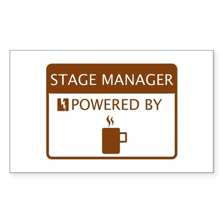 Stage Manager Powered by Coffee Sticker (Rectangle