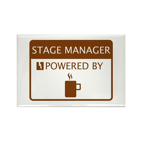 Stage Manager Powered by Coffee Rectangle Magnet