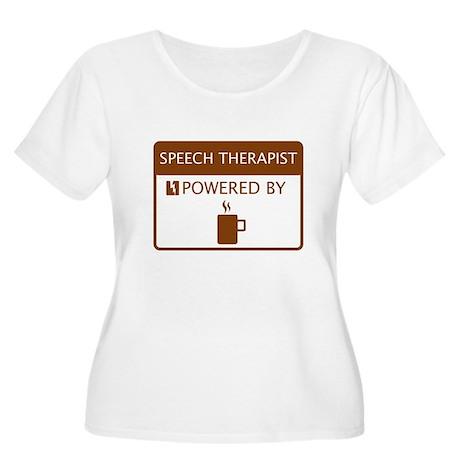 Speech Therapist Powered by Coffee Women's Plus Si