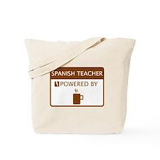 Spanish Teacher Powered by Coffee Tote Bag
