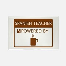 Spanish Teacher Powered by Coffee Rectangle Magnet