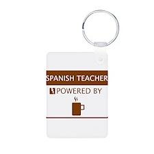 Spanish Teacher Powered by Coffee Aluminum Photo K