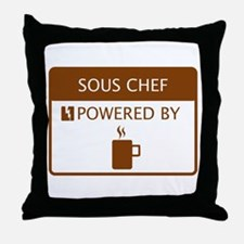 Sous Chef Powered by Coffee Throw Pillow