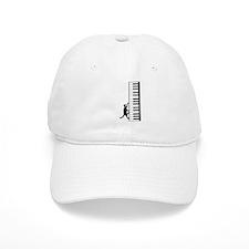 Cat and Piano v.2 Baseball Cap