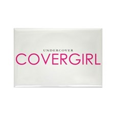 Undercover Girl Rectangle Magnet