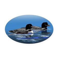 loon family Oval Car Magnet