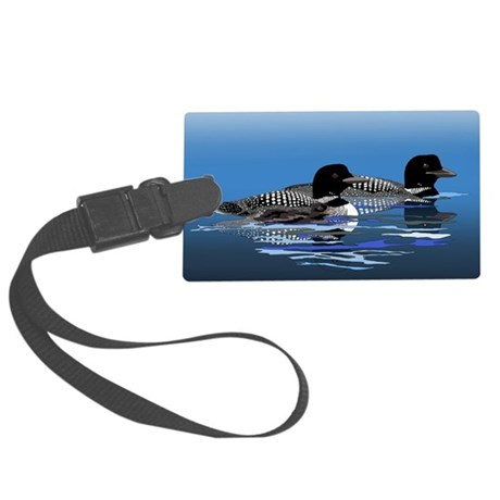 loon family Large Luggage Tag