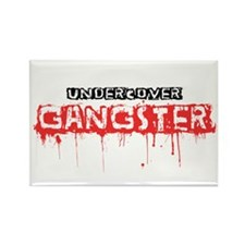 Undercover Gangster Rectangle Magnet