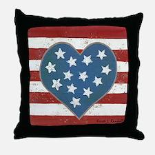 American Love Throw Pillow