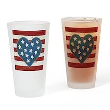 American Love Drinking Glass