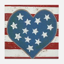 American Love Tile Coaster