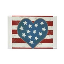 American Love Rectangle Magnet