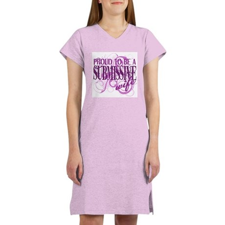 Proudly Submissive PINK Women's Nightshirt