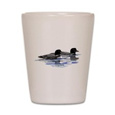 loon family Shot Glass