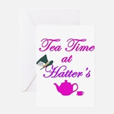 Tea Time at Hatters Greeting Card