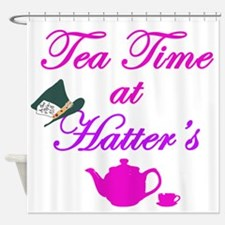 Tea Time at Hatters Shower Curtain