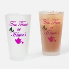Tea Time at Hatters Drinking Glass