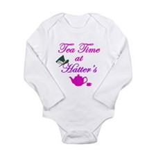 Tea Time at Hatters Long Sleeve Infant Bodysuit