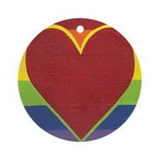 Rainbow Love by Kristi L Randall Ornament (Round)