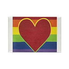 Rainbow Love by Kristi L Randall Rectangle Magnet