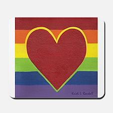 Rainbow Love by Kristi L Randall Mousepad