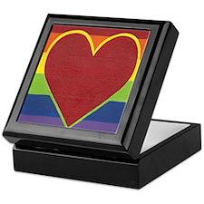 Rainbow Love by Kristi L Randall Keepsake Box
