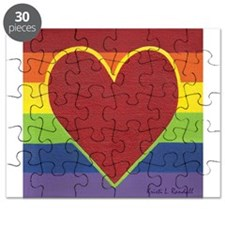 Rainbow Love by Kristi L Randall Puzzle