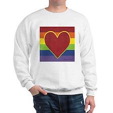 Rainbow Love by Kristi L Randall Sweatshirt