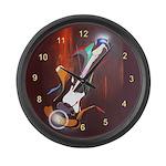 Guitar Melody Large Wall Clock
