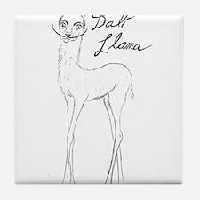 Dali Llama Tile Coaster