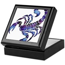 Celestial Rainbow Scorpion Keepsake Box