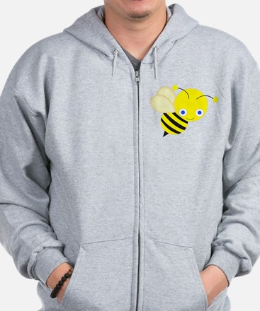 Honey Bee Looking Over His Shoulder Zip Hoodie