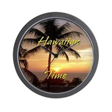 Hawaiian Time Wall Clock w/ no numbers