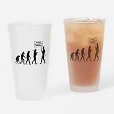 The Evolution Of Man. Turn Back Drinking Glass