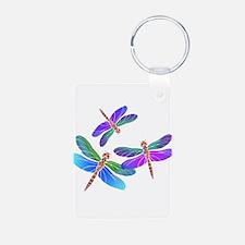 Dive Bombing Iridescent Dragonflies Keychains