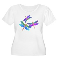 Dive Bombing Iridescent Dragonflies T-Shirt