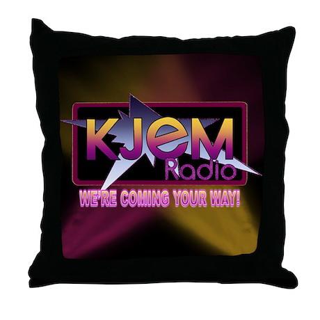 Throw Pillows Spotlight : Black Throw Pillow Spotlight Logo by kjemradio
