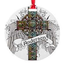 Anderson Tartan Cross Round Ornament