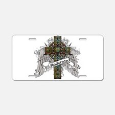 Anderson Tartan Cross Aluminum License Plate