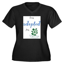 I was Adopted from Oops-a-Dazy Women's Plus Size V