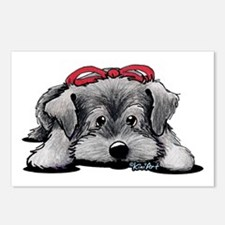 KiniArt Schnauzer Postcards (Package of 8)