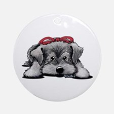 KiniArt Schnauzer Ornament (Round)