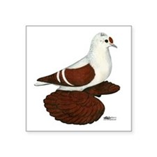 """Red Wing Pigeon Square Sticker 3"""" x 3"""""""