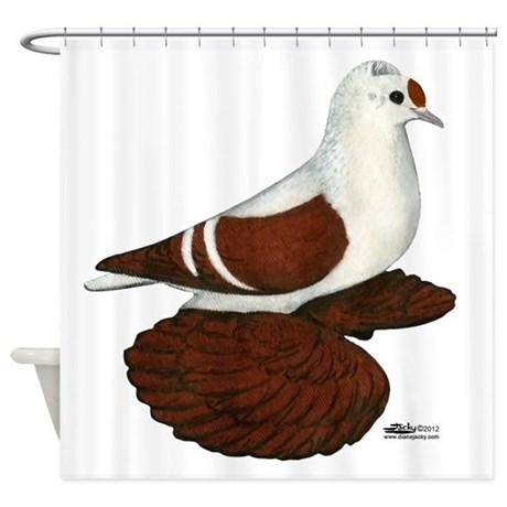 Red Wing Pigeon Shower Curtain