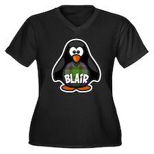 Blair Tartan Penguin Women's Plus Size V-Neck Dark