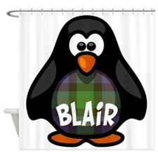Blair Tartan Penguin Shower Curtain