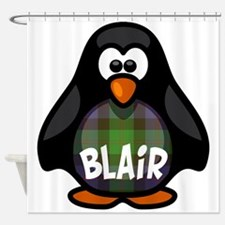 Blair Tartan Penguin Shower Curtain