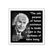 """Jung Purpose Quote 2 Square Sticker 3"""" x 3"""""""