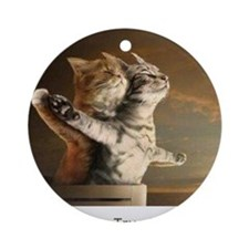 Titanic Cats Ornament (Round)