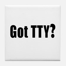 Got TTY? Tile Coaster